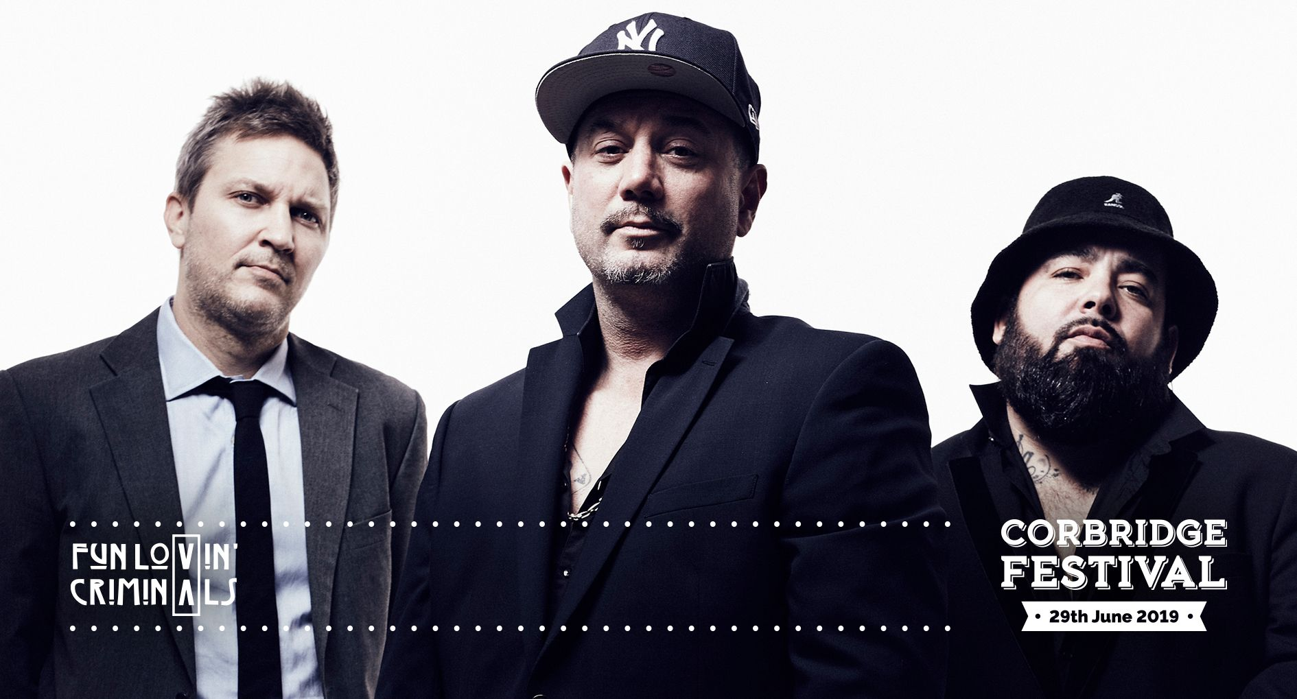 Fun Lovin' Criminals headline Corbridge Festival 2019 on Saturday 29th June