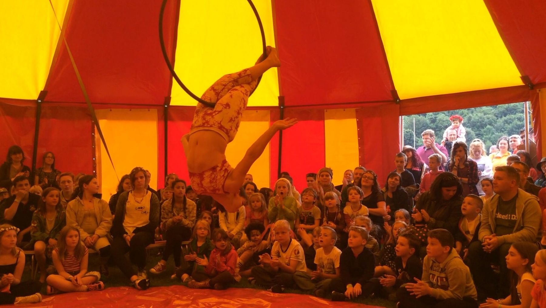 Circus tent at Corbrifge Festival