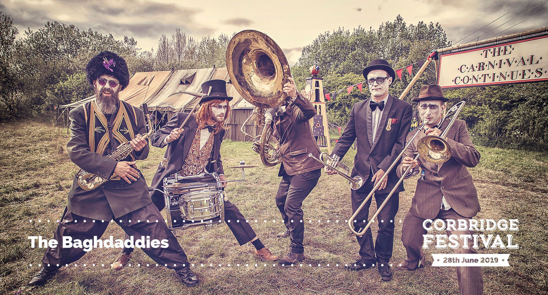 The Baghdaddies play the main stage at Corbridge Festival 2019 on Friday 28th June