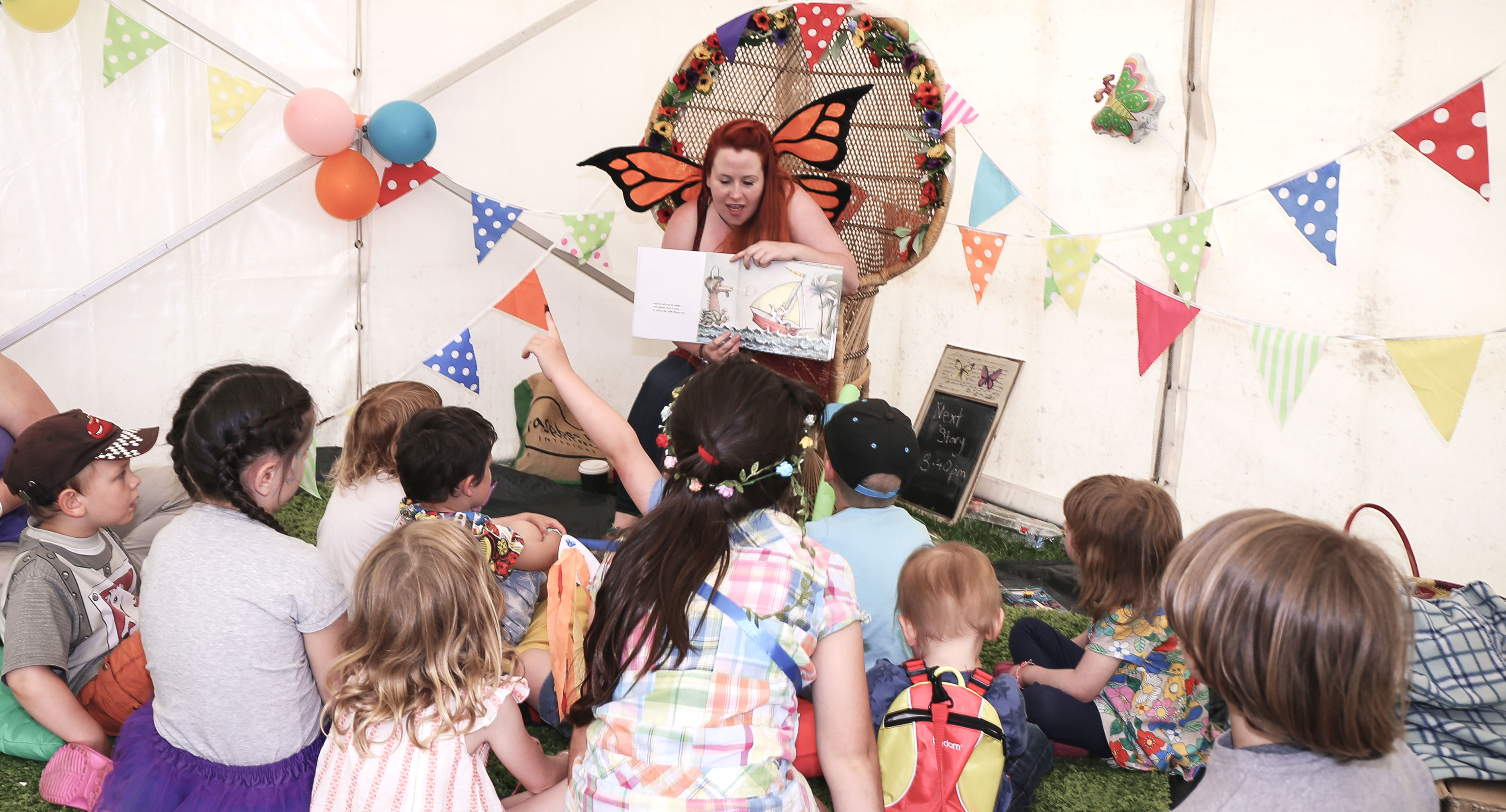 Story-telling at family-friendly festival